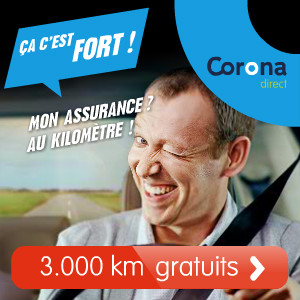 Assuré gratuitement pendant 3.000 km chez Corona Direct